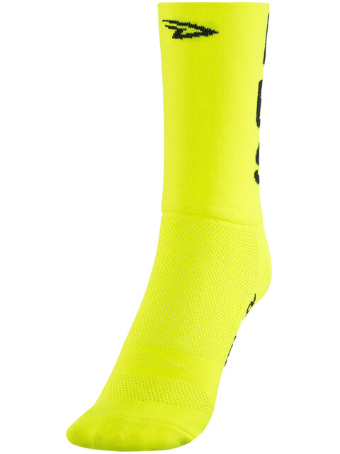 "DeFeet Aireator 5"" Doppel-Bund Socken Do Epic Shit (Neon Gelb)"